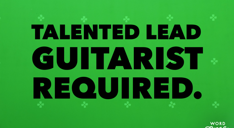Talented Lead guitarist required.