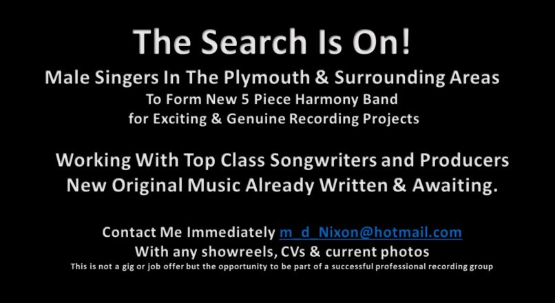 Males Singers In Plymouth Area